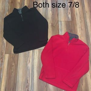 TWO fleece half- zip pullovers- Size 7/8